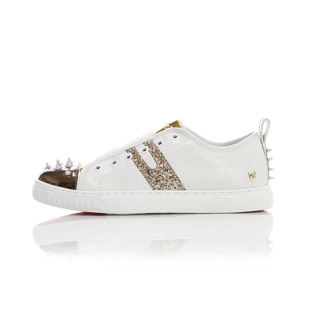 Crazy Horse Lo - White / Gold / Silver
