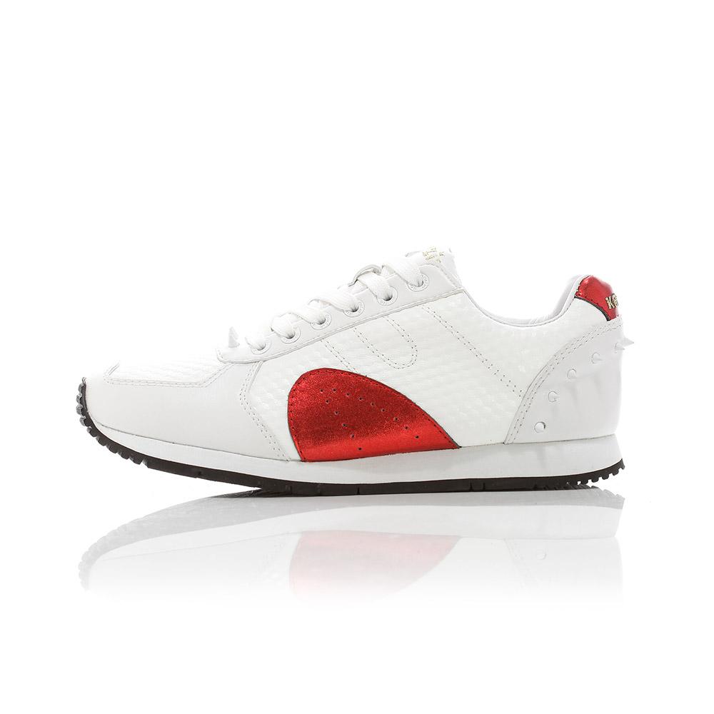 Boston - White / Royal Red