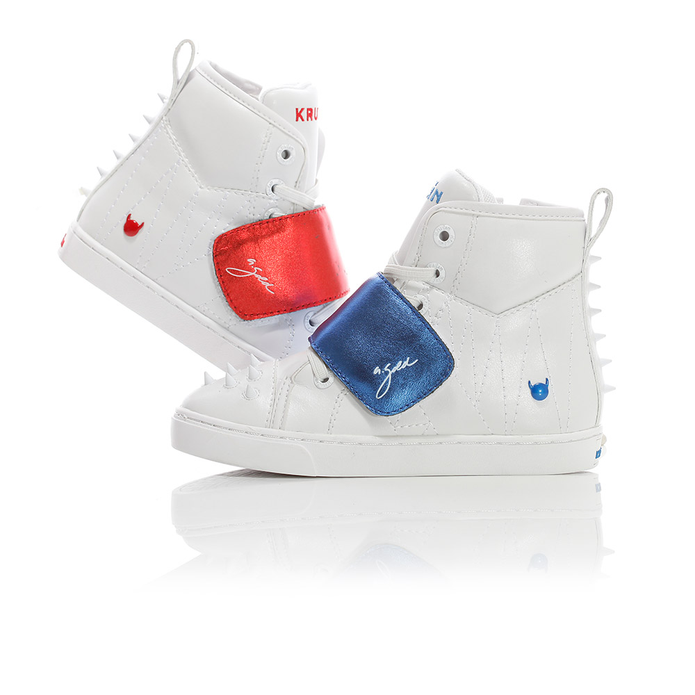 Mini Cloud - White / Royal Blue / Red