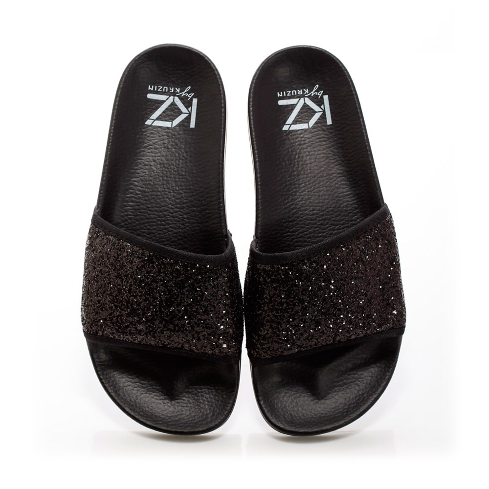 KZ slide - Sequins Black