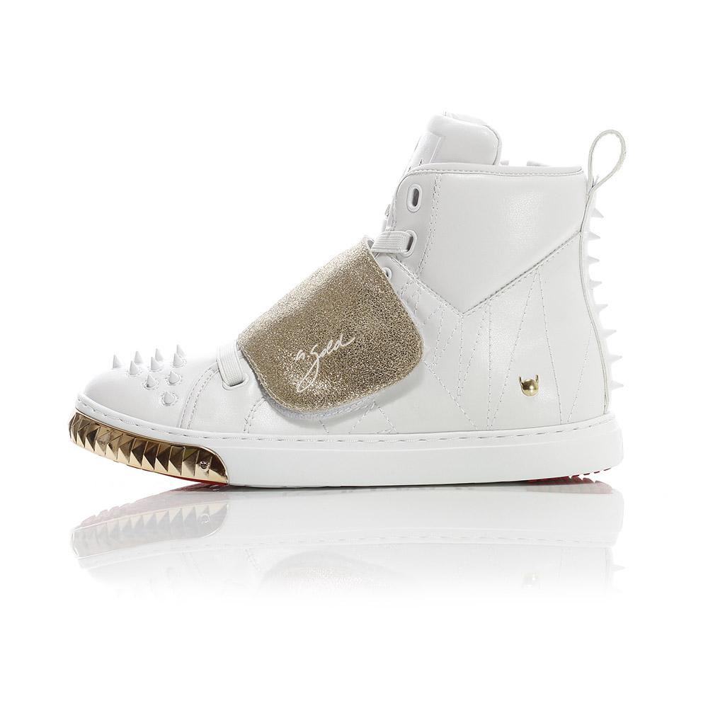 Velcro Horse - White / Gold