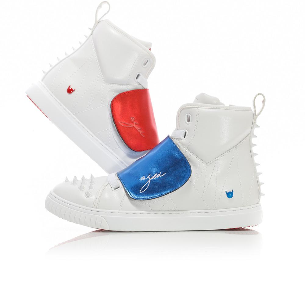 Velcro Horse - White / Blue / Red